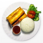 Springrolls with rice