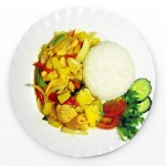 Chicken with pineapple and rice